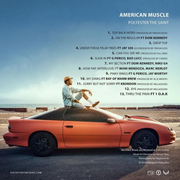 Polyester The Saint Releases 'American Muscle' featuring Dom Kennedy, Bad Lucc, 1-O.A.K. – STREAM